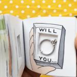 Une demande en mariage originale avec un flipbook
