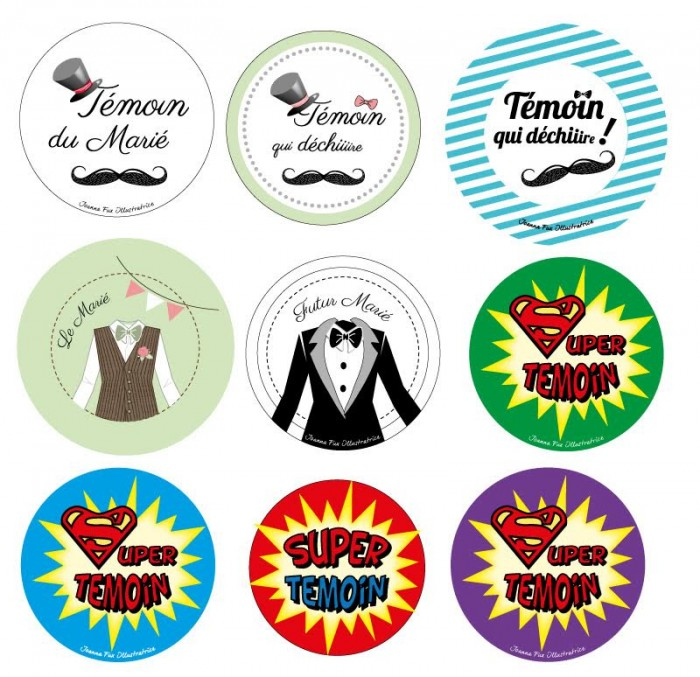 cadeau invite badge mariage