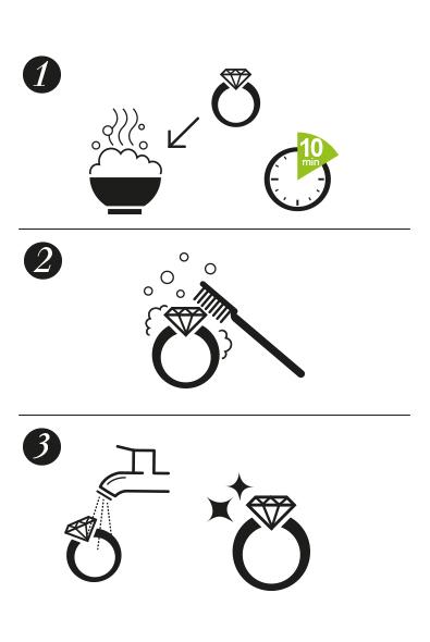 comment nettoyer bague or blanc et diamant