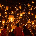 Animation de mariage: Un lâcher de lanternes