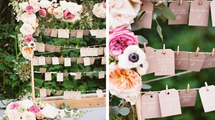 Merveilleux Plan De Table Mariage #5: Plan-de-table-fleurs-papier-kraft-e1455557679318.jpg