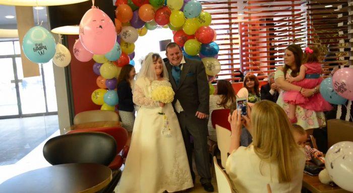 mariage au mcdonalds