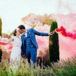 Animations lumineuses pour un mariage : jets de scènes, fumigènes