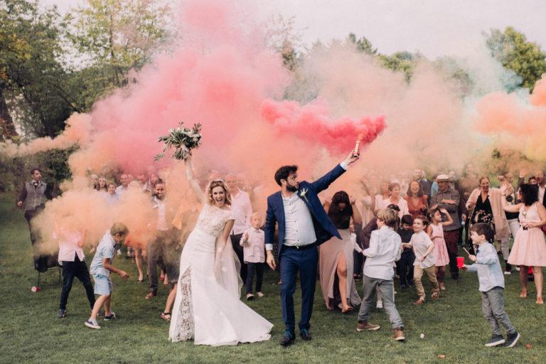 Fumigène mariage