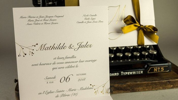 Faire part letterpress